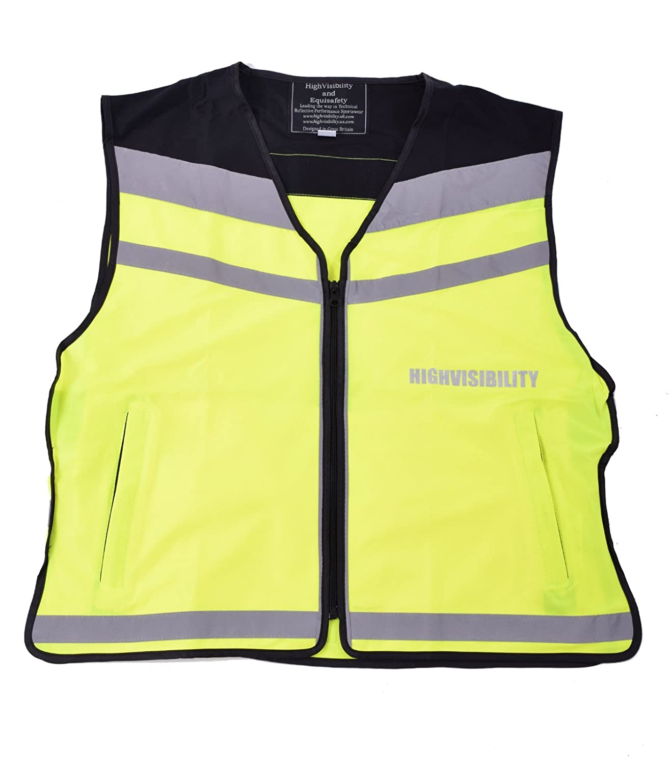 highvisibility.uk.com Ladies Equisafety HiViz Air Waistcoat Reflective Safety Cycle Horse Riding XL