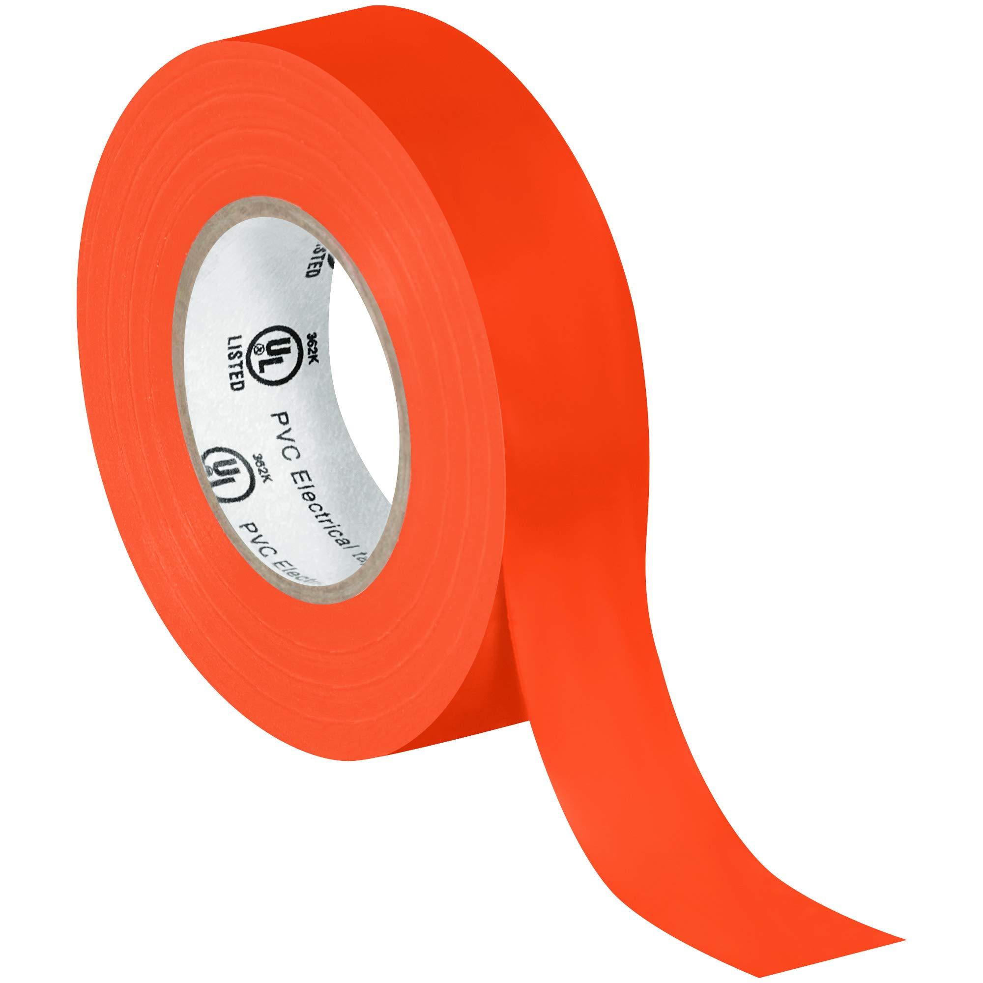 Electrical Tape, 7.0 Mil, 3/4''x 20 yds, Orange, 200/Case