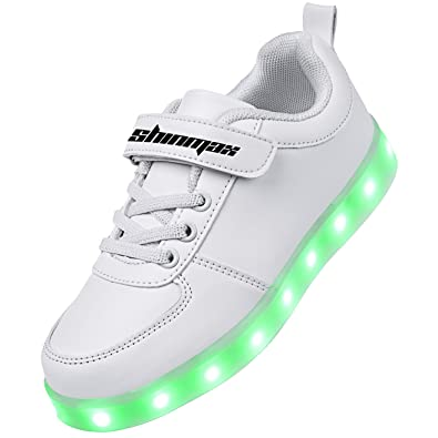 Shinmax Kids LED Shoes Light Up Sneaker 7 Colors Flashing Shoes For Kids  Birthday Christmas Gift 2bf4918e8d93