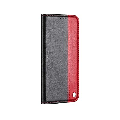 WaiterQA iPhone XR Flip Case Leather Cover Kickstand Extra-Protective Business Wallet Cover Card Holders Color Block Card Slot Soft TPU Inner Magnetic Closure (red): Toys & Games