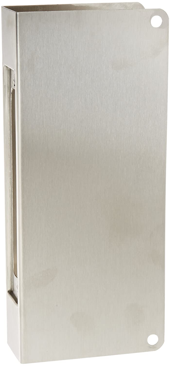 Satin Stainless Steel Finish Don-Jo 504-CW 22 Gauge Stainless Steel Mortise Lock Wrap-Around Plate For 86 Cut-Out 5 Width x 12 Height 1-3//4 Door Size
