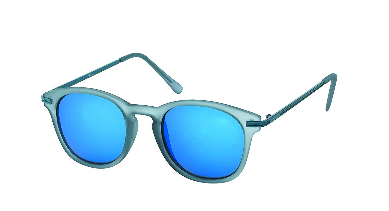 Des lunettes de soleil Chic-net rondes John Lennon 400UV pont serrure Retro repassage d'orange réfléchissante mince EADrPhipJ