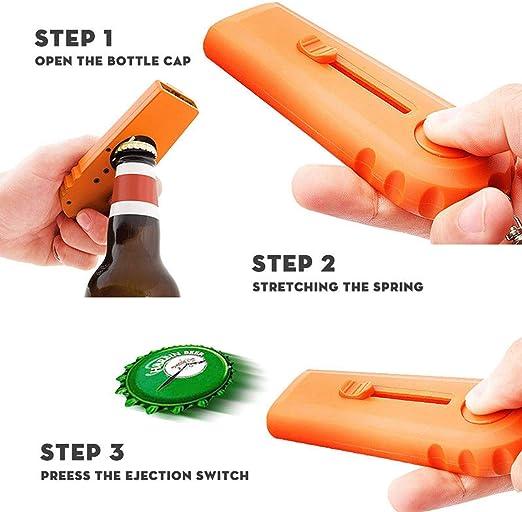 Bar Party Beer Bottle Drink Opening Launcher Cap Zappa Shooter Flying Opener Top