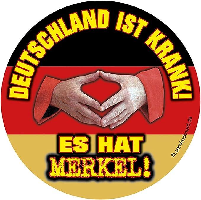 Aufkleber Sticker Deutschland Ist Krank Es Hat Merkel Sticker Set 10 Stück Auto