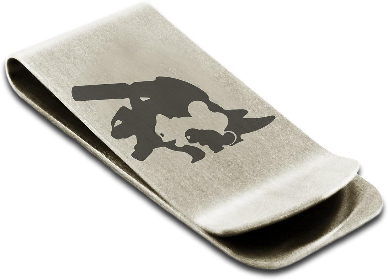 Stainless Steel 1st Gen Squirtle Wartortle Blastoise Pok/émon Engraved Money Clip Credit Card Holder