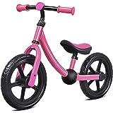 "Costzon 12"" Balance Bike, Adjustable Handlebar and Seat, No Pedal Walking Bicycle for Kids"
