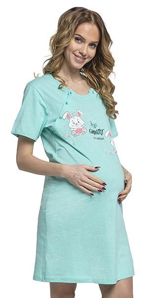 Para Mujer Camisón de Lunares Premamá de Embarazo y Lactancia. 218p (