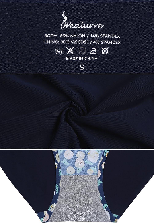 Wealurre Ropa Interior sin Costuras Bikini Invisible No Show Medias de Nylon Spandex Bragas