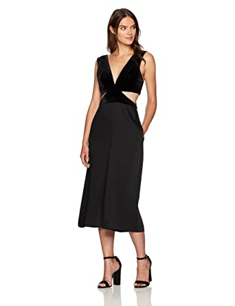 7032b3addd86 Amazon.com  BCBGMax Azria Women s Olya Woven Jumpsuit with Side Cutouts   Clothing