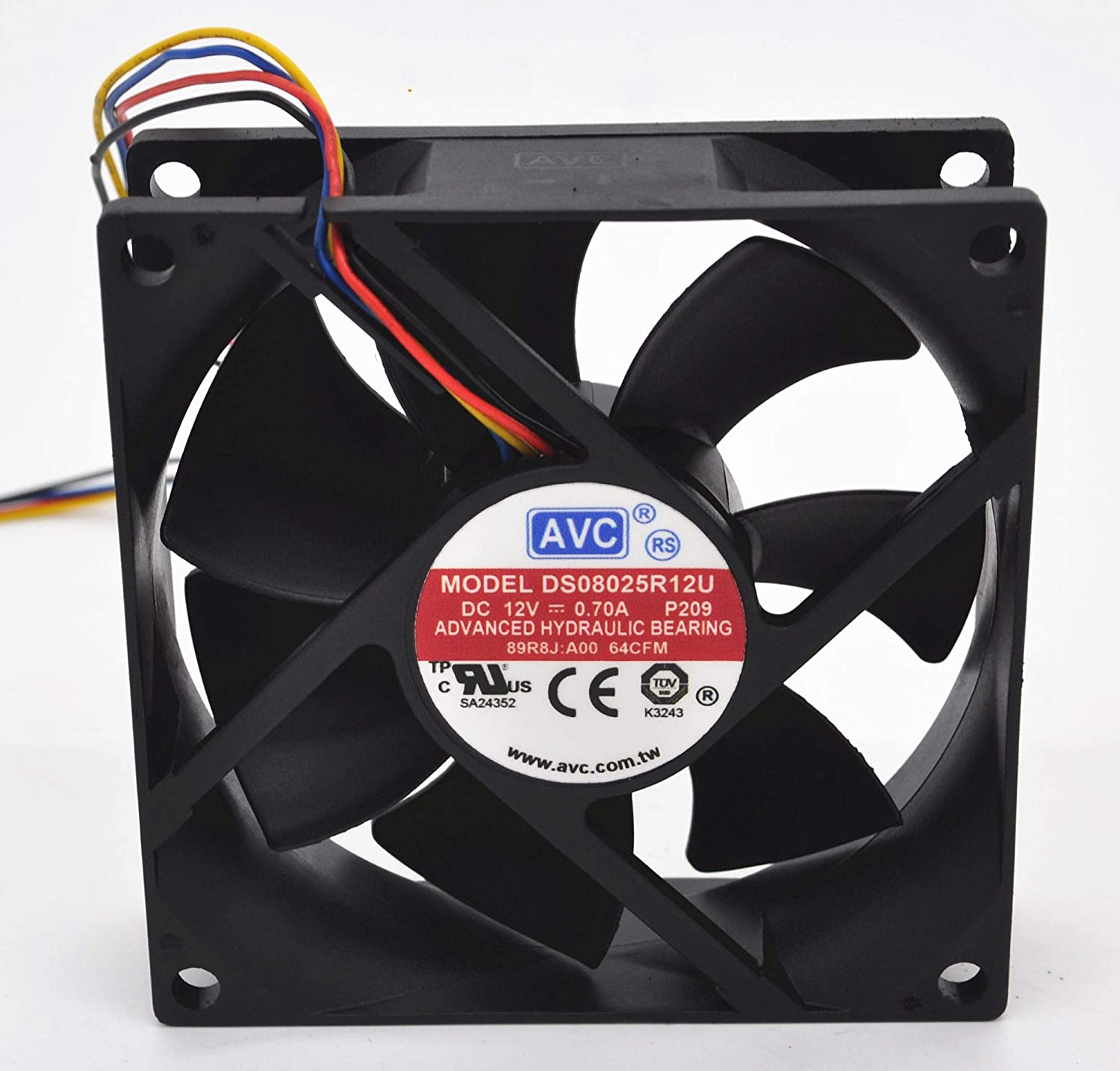 for AVC DS08025R12U 8 cm 8025 12V 0.70A 4-pin PWM Cooling Fan