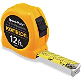 Komelon SM3912 Speed Mark Acrylic Coated Steel Blade Tape Measure 12-Inch by 5/8-Inch, Yellow Case