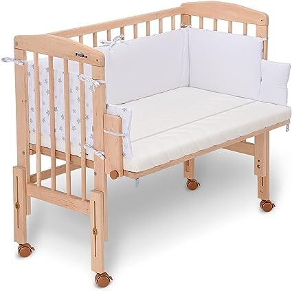 legno Culla Co-Sleeping da affiancare al letto materasso paracolpi /'crema/'
