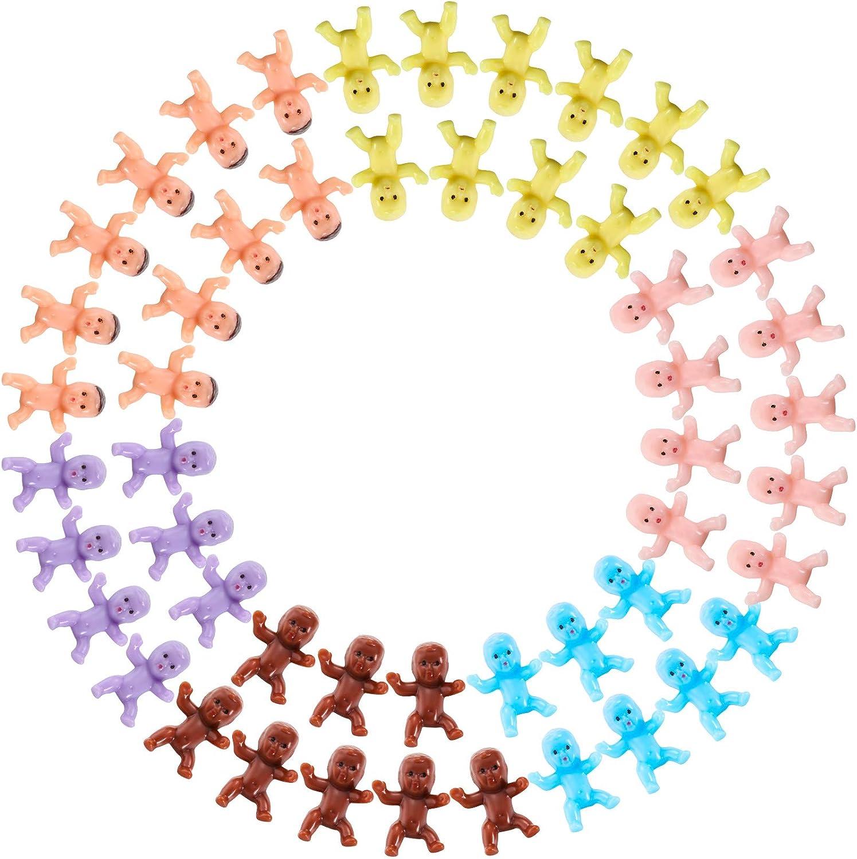 120 Stücke Mini Kunststoff Babys Baby Dusche Spiele Party Eiswürfel Party Dekorationen Kleine Kunststoff Babys Für Tisch Streuen Puppe Vollmond Geschenke Spielzeug