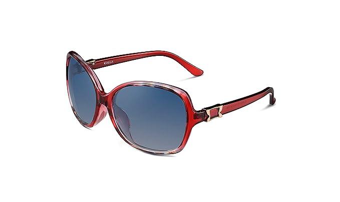 KALLA Casual Blue Lens Butterfly TR90 polarizadas mujer gafas de sol UV-400 Protection