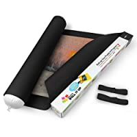 Lavievert Black Felt Mat for Puzzle Storage Puzzles Saver, Long Box Package, No Folded Creases, Environmentally Friendly (Black)