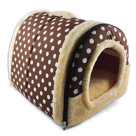 CJOY Camas y sofá Suaves para Mascotas, 2 en 1 con Almohada de cojín Cálido
