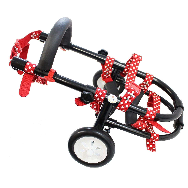犬 車椅子(車いす)歩行補助 2輪 4輪 小型 中型 動物病院 獣医師 推奨 (中型2輪, 赤) B07JXS1S3W 黒 小型2輪 小型2輪|黒