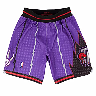 7fde72621fb Mitchell and Ness 98-99 Toronto Raptors Mens Shorts In Purple - -:  Amazon.co.uk: Clothing