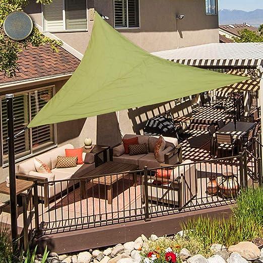 Oldpapa Tenda A Vela Triangolo Vele Parasole Impermeabile Protezione Solare Blocco Uv Giardino Terrazzo Piscina Tetto Parasole 4x4x4m Verde Dell Esercito Amazon It Giardino E Giardinaggio