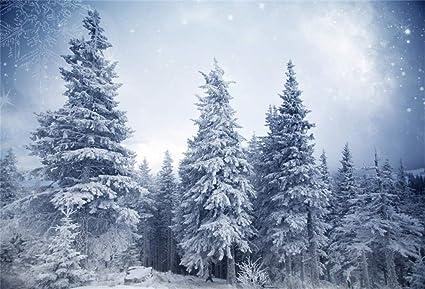 Snowing Christmas Scene.Amazon Com Csfoto 6x4ft Background Winter Fir Forest Snow
