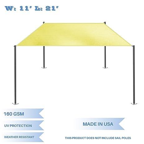 Eu0026K Sunrise 11u0027 x 21u0027 Canary Yellow Rectangle Sun Shade Sail Outdoor Shade Cloth  sc 1 st  Amazon.com & Amazon.com : Eu0026K Sunrise 11u0027 x 21u0027 Canary Yellow Rectangle Sun ...
