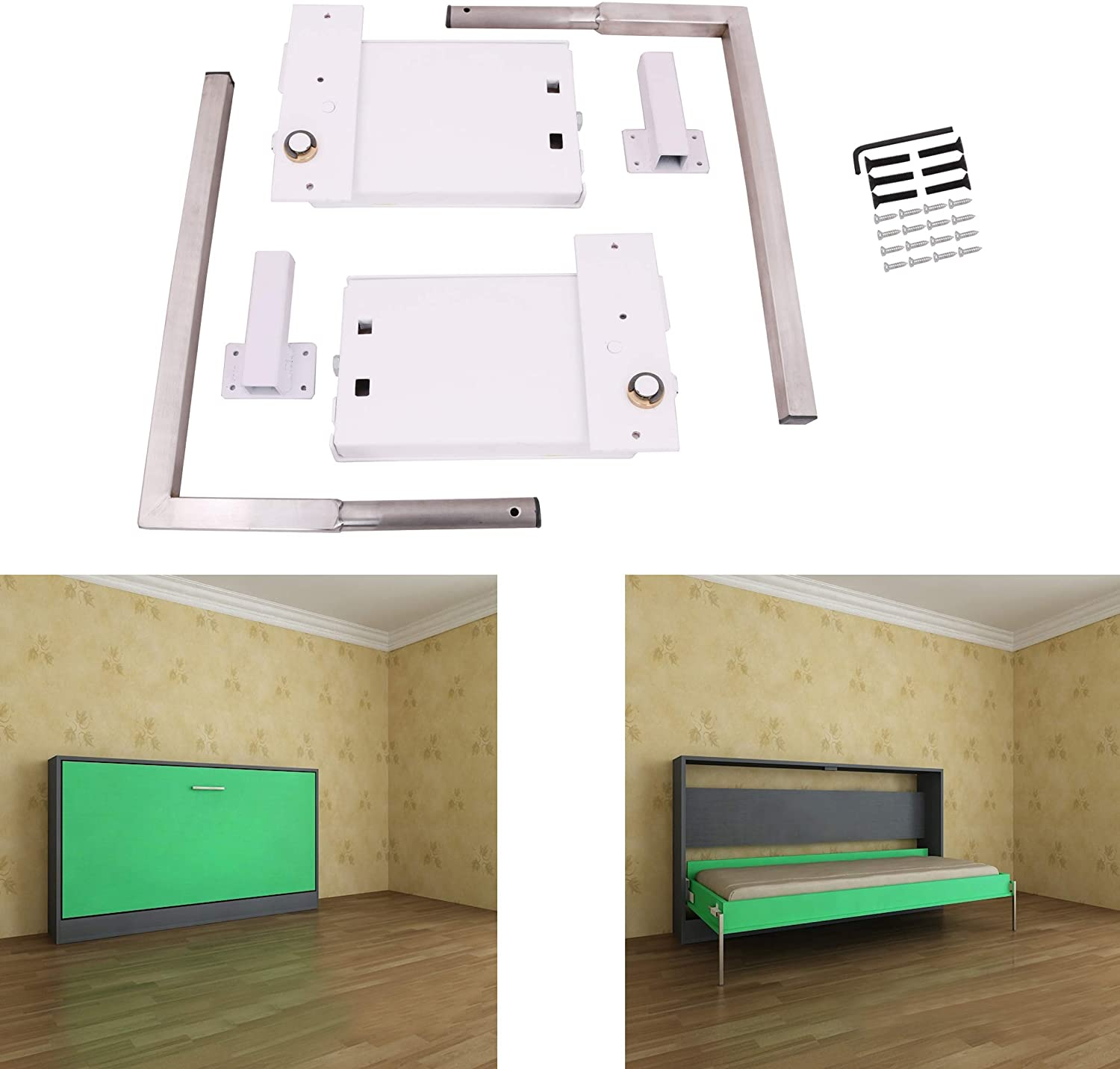 Twin Size Murphy Wall Bed Mechanism Hardware Kit /& LEGS Vertical