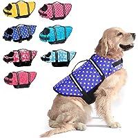 Dogcheer Dog Life Jacket, Dog Life Swim Vest Small Medium Large, Reflective Puppy Life Jacket Dog Floatation Vest PFD…