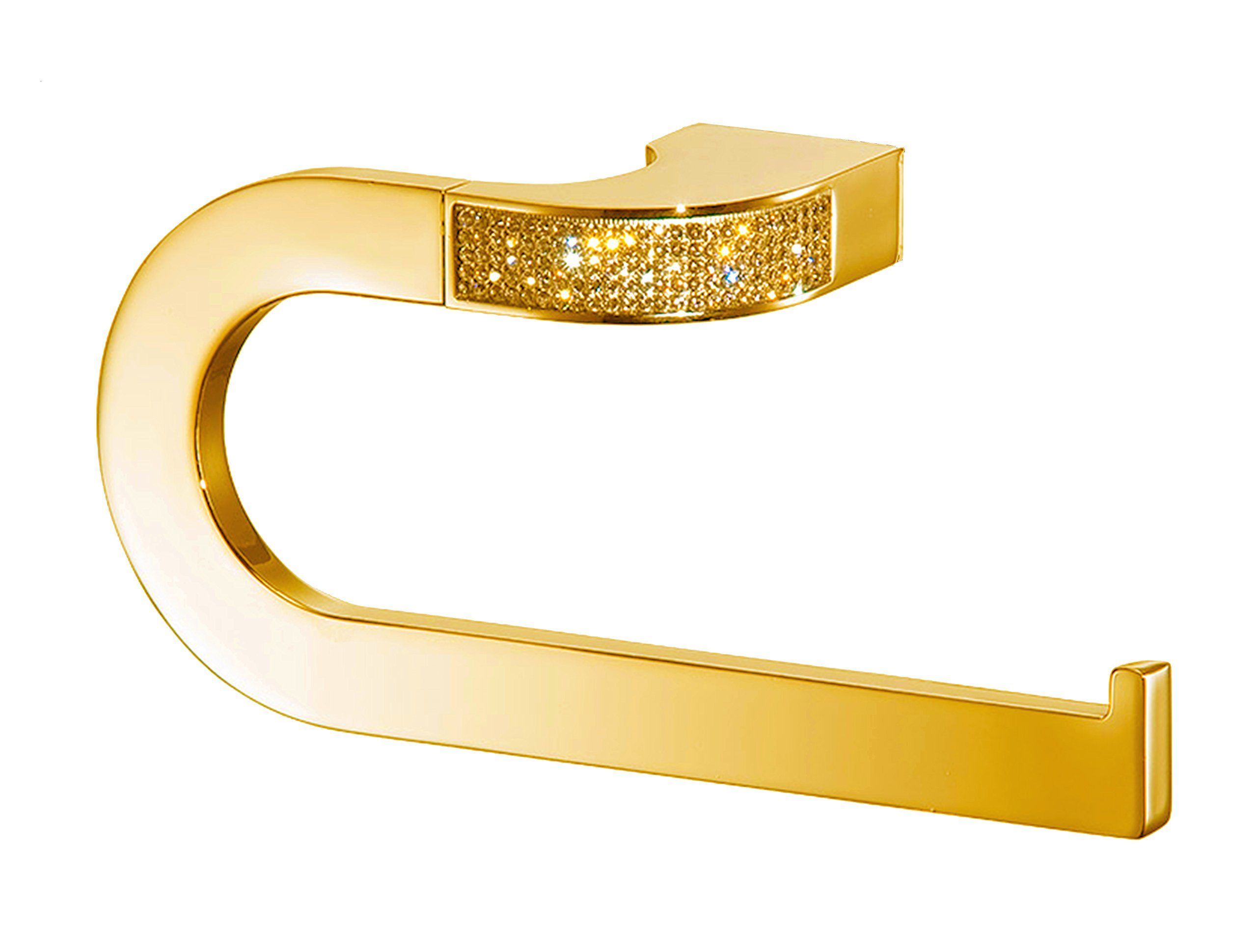 Cecilia Luxury Gold Swarovski Crystals Small Towel Ring, Limited Edition by Secret Bath (Image #1)