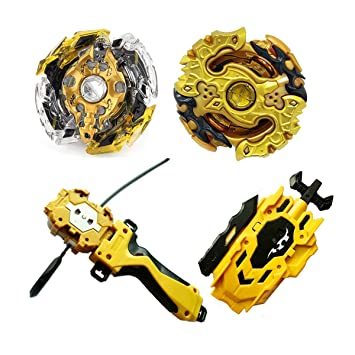 BK Toys & Games Christ For Givek Beyblade Burst Wrestling Masters Fusion Spinning Top Spinning Top Gyro and Launcher Plastic Speed XD168-21B Gold Version Toy and Gifts Interesting for Kids