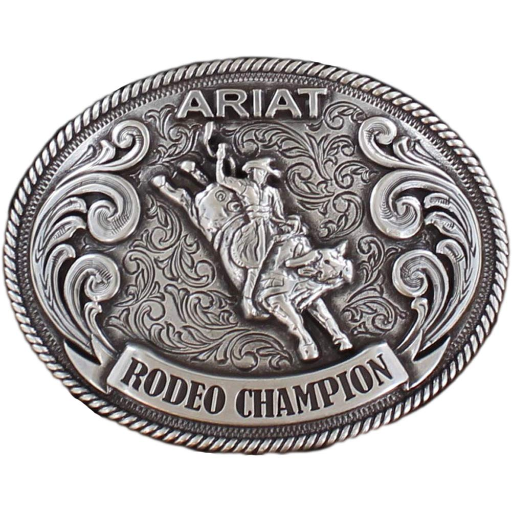 Ariat Kid's Bull Rider Motif Buckle Antique Silver OS