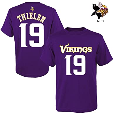 Outerstuff Youth Minnesota Vikings Adam Thielen NFL Purple Name   Number  T-Shirt (XL 844ba3205