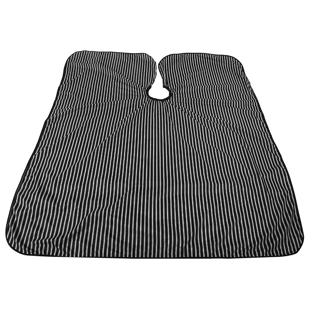 Salon equipment, Black & White Striped Anti-static Stying Capes Oilproof Salon Cape Barber Hairdressing Wrap by Antilog