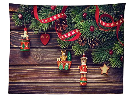 vipsung christmas decorations tablecloth rustic wood backdrop december old fashioned christmas time theme jesus ribbon dining - Old Time Christmas Decorations