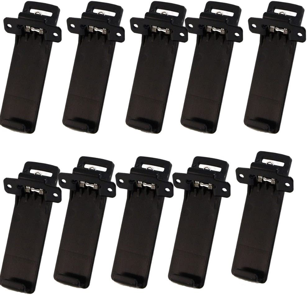 Baofeng UV5R Belt Clip Two-Way Radios Walkie Talkie Belt Clip for Baofeng UV-5R Series 10 Pcs//Set