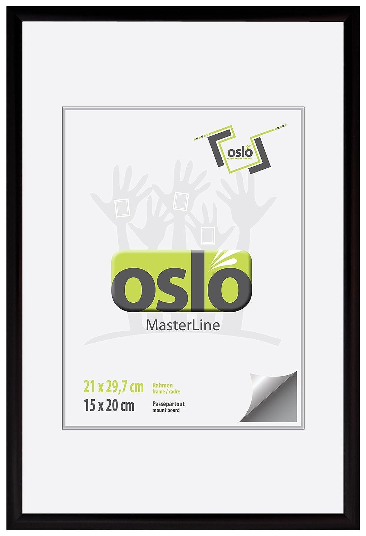 Amazon.de: OSLO MasterLine Bilderrahmen 21x30 schwarz matt Aluminium ...