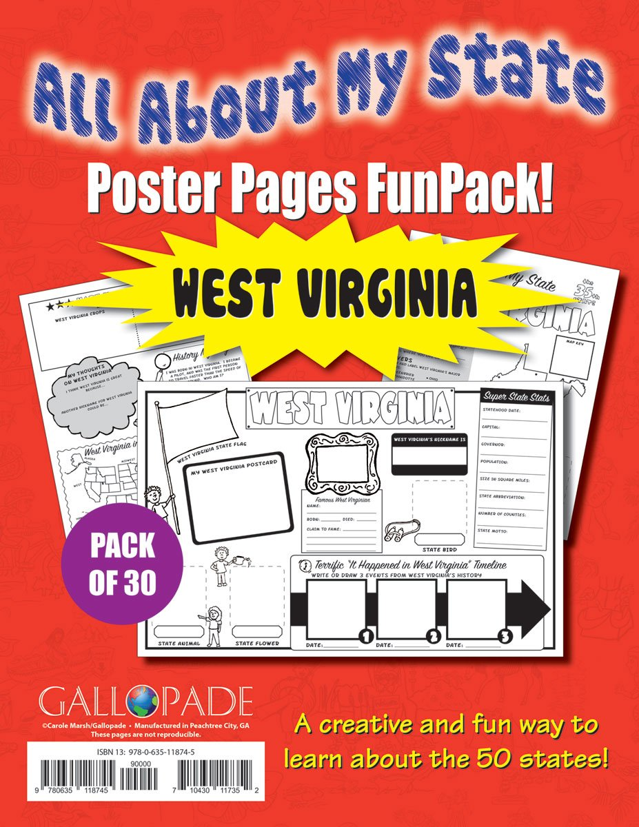 Download All About My State-West Virginia FunPack (30): A FunPack of Poster Pages for Creative Learning Fun! (West Virginia Experience) pdf epub