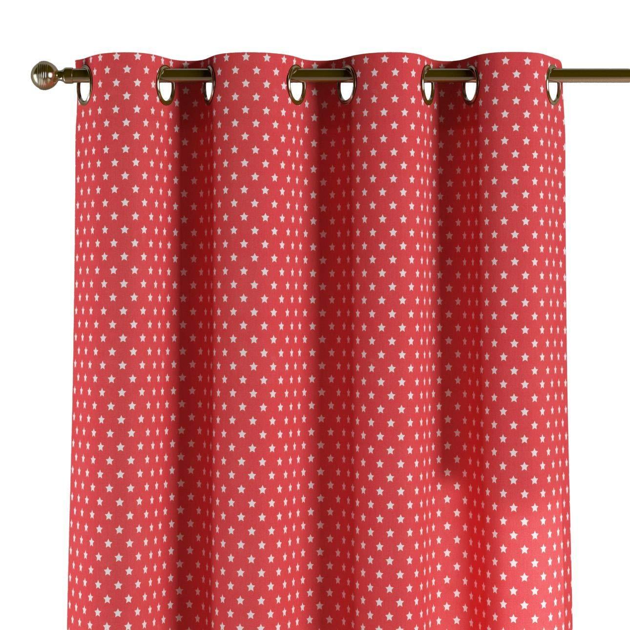 Dekoria Ösenschal Dekoschal Blickdicht 1 Stck. 130 × 260 cm pink- Weiss Maßanfertigung möglich
