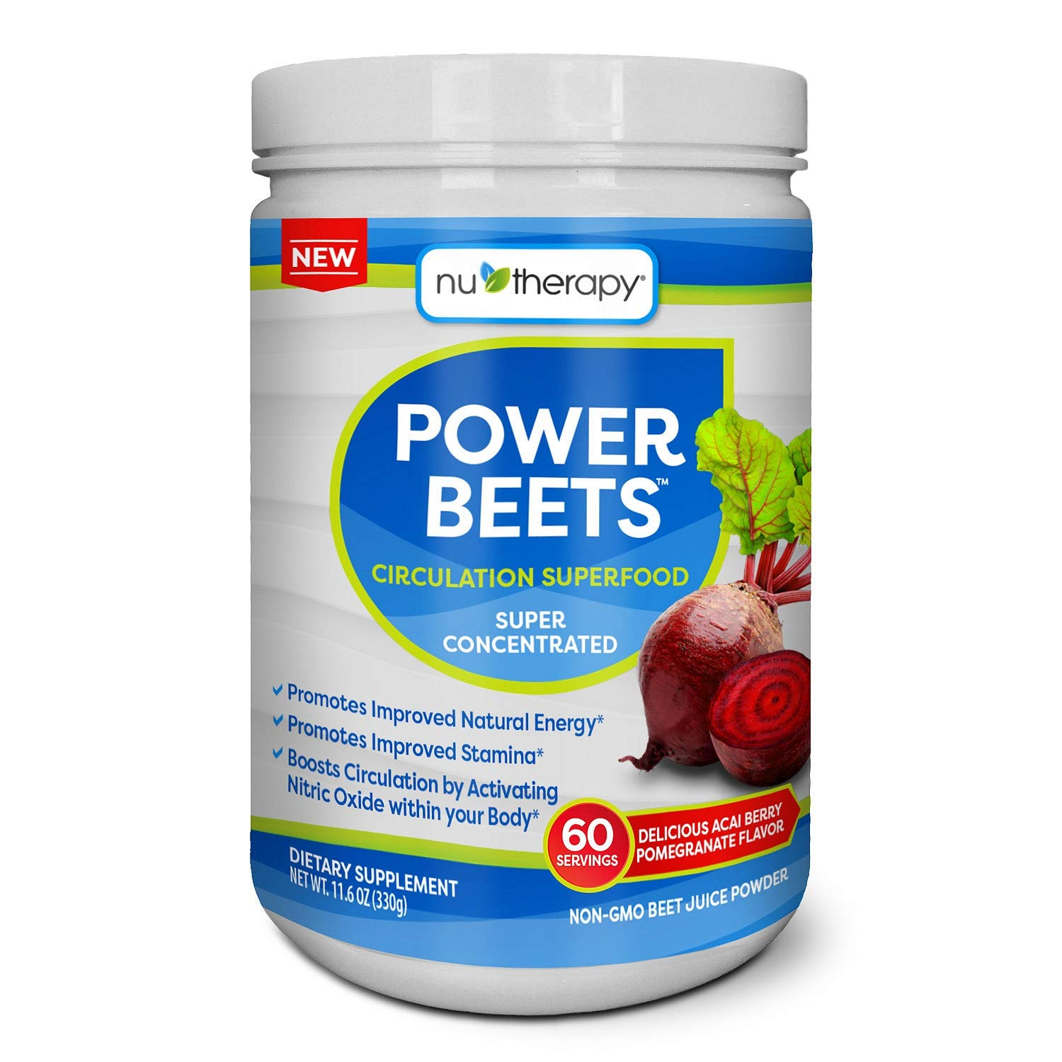 Nu-Therapy Power Beets Juice Powder (60 servings) (pack of 6)