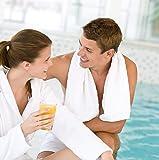 HomeLabels 100% Cotton White Bath Towels Set
