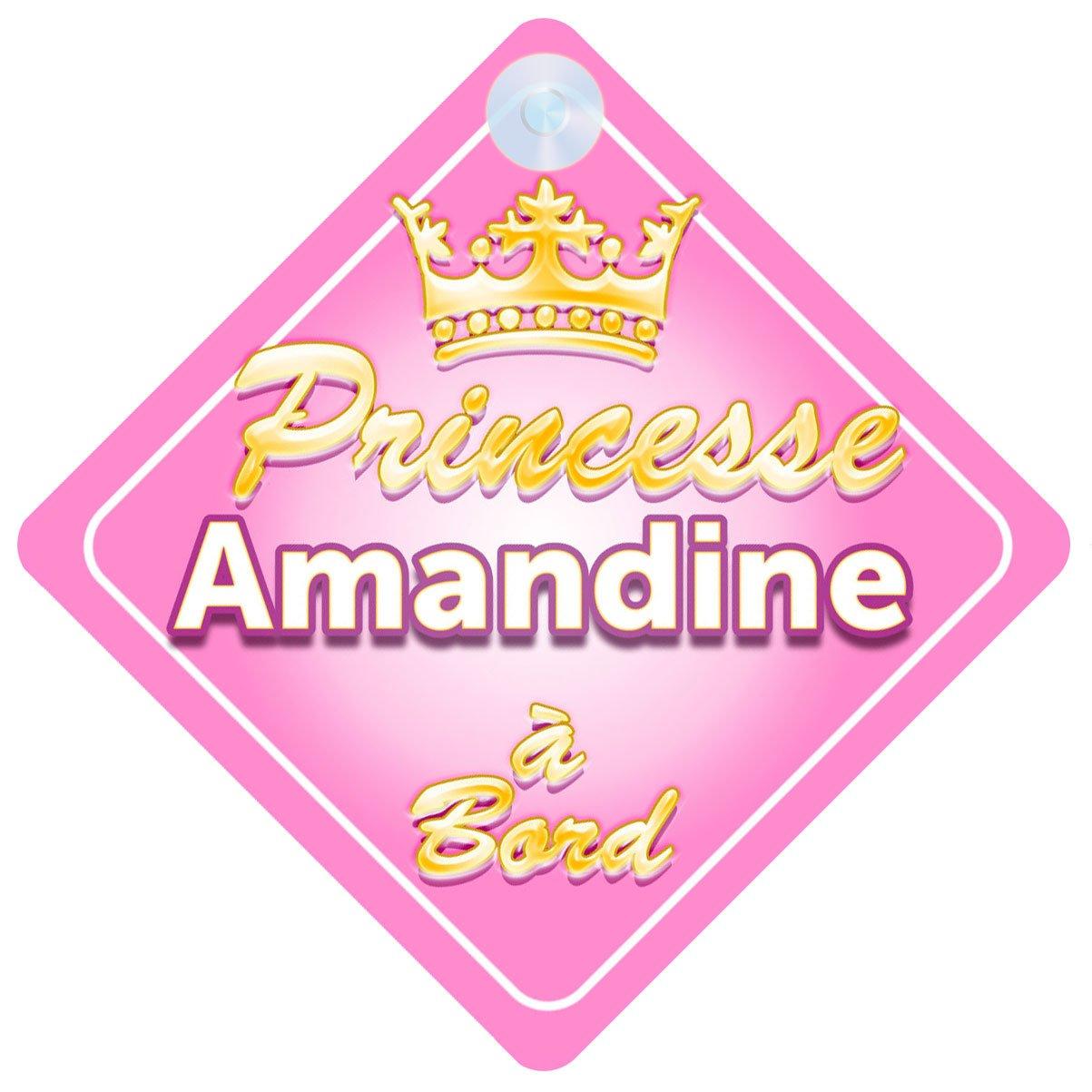 Couronne Princesse Amandine Signe Pour Voiture Enfant/Bébé à Bord