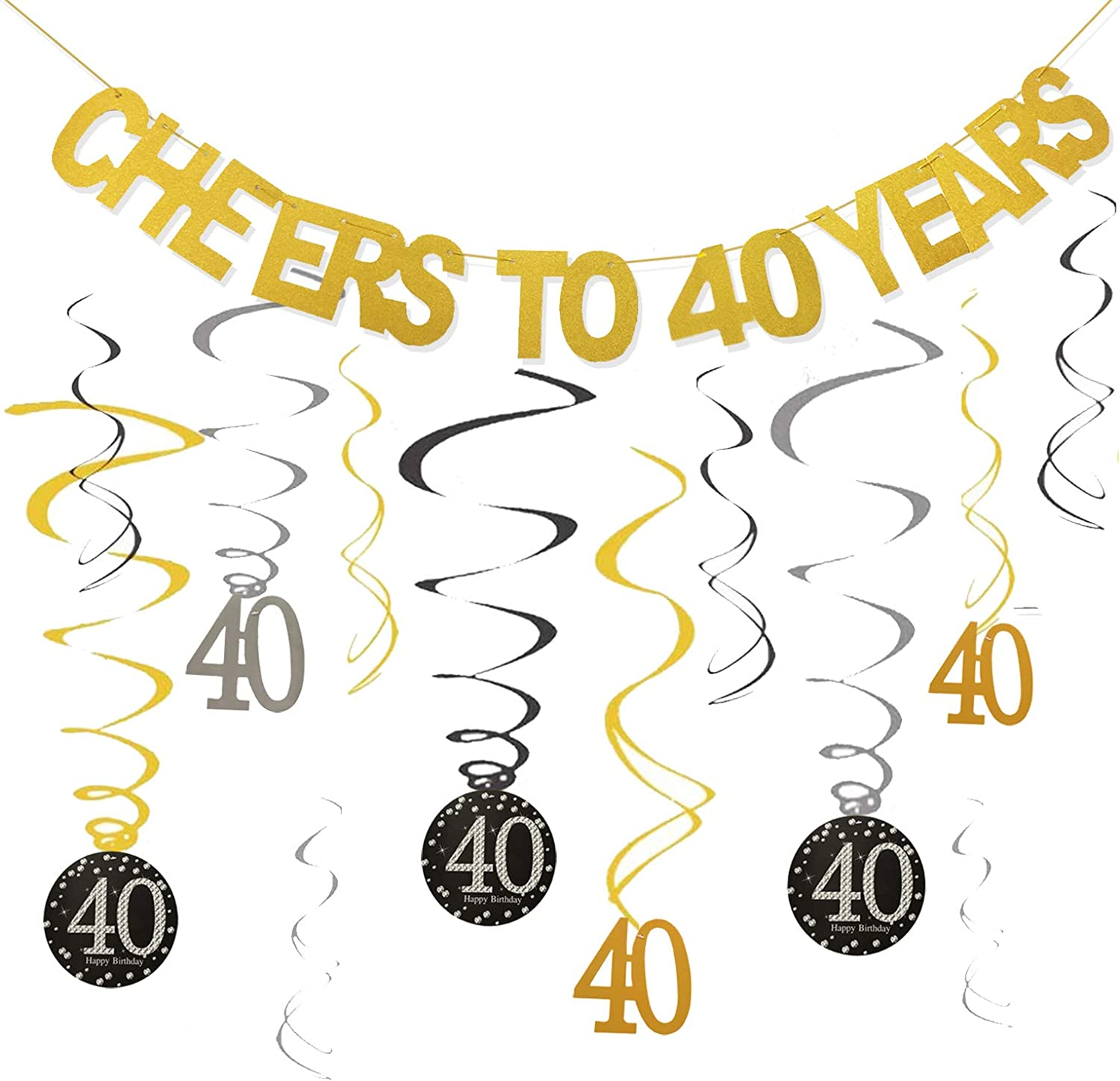40th Birthday Banner Combo Cheers to 40