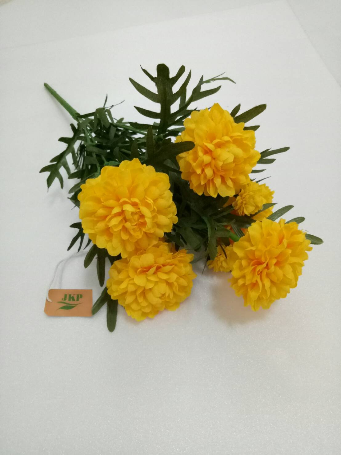 Thai Artificial Yellow Marigold Bunch, Artificial flowers, Marigold flower, Yellow Flowers, Marigold Yellow, By Jakapan.