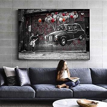 Geiqianjiumai Arte Moderno de la Lona de la Calle Arte Moderno de la Pared del Graffiti decoración Abstracta del hogar habitación de los niños Pintura sin Marco 20x30cm: Amazon.es: Hogar