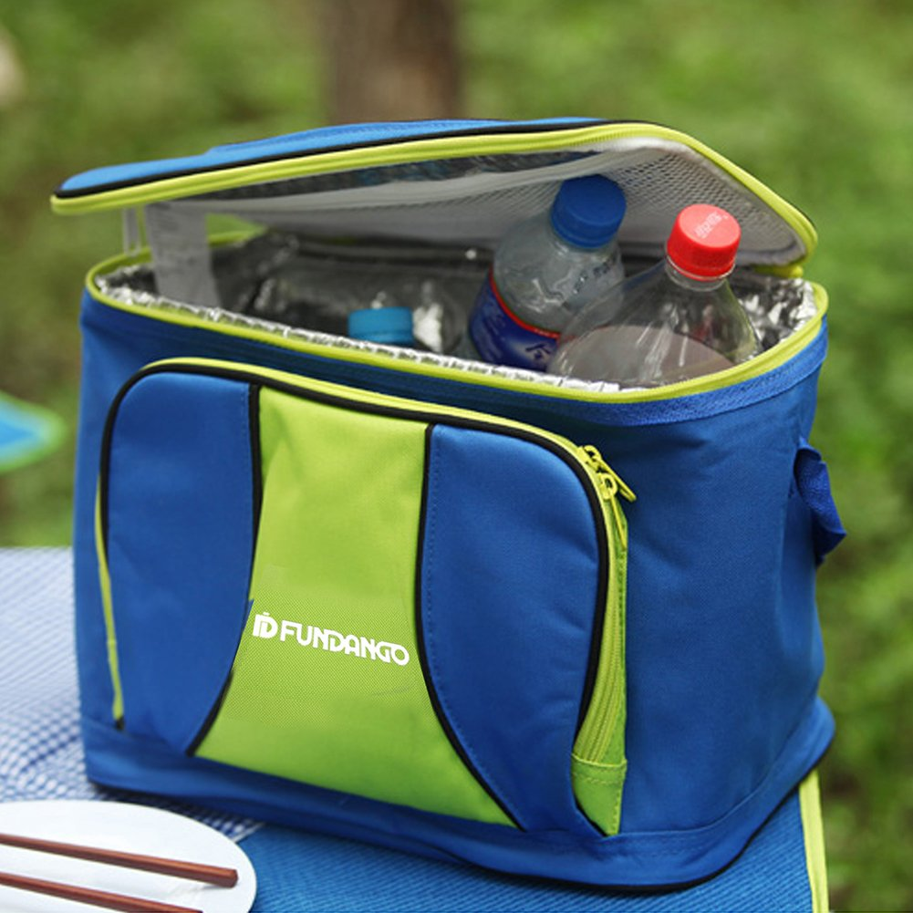Fundango 20 L large Capacity Soft Cooler Tote Insulated Lunch Bag Outdoor Picnic Bag For Camping with Pockets and Adjustable Strap