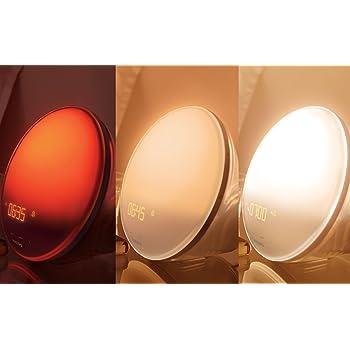 Ein Lichtwecker hat für gewöhnlich unterschiedliche Lichtstufen.