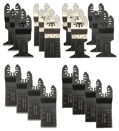 BaiFM 20PCS Wood/Metal Oscillating Multitool Quick Release Saw Blades Fit  Fein Multimaster Porter Cable Black & Decker Bosch Dremel Craftsman Ridgid