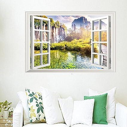 Adesivi Murali Finte Finestre.Finestre Finte Paesaggio Adesivi Murali Salotto Camera Da Letto