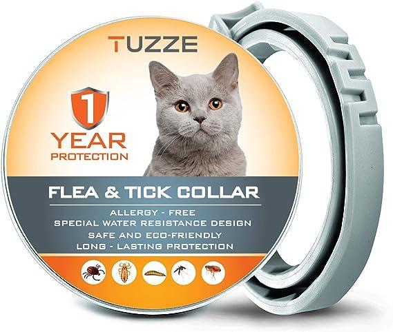 MASOLD - Collar antipulgas para Gatos, 12 Meses de protección ...
