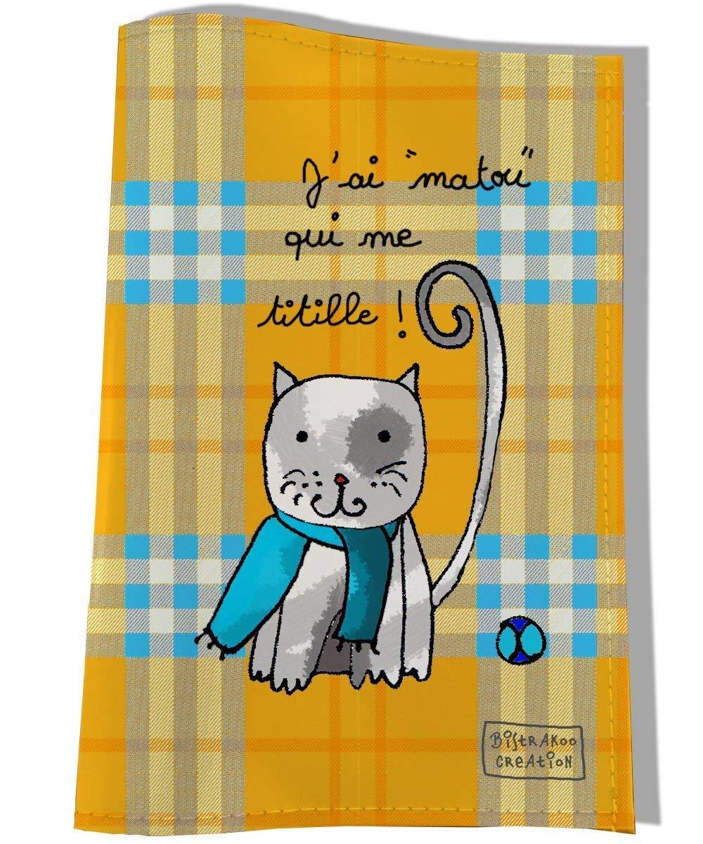 Protège carnet de santé pour chat, Coloris orange, réf. c2202