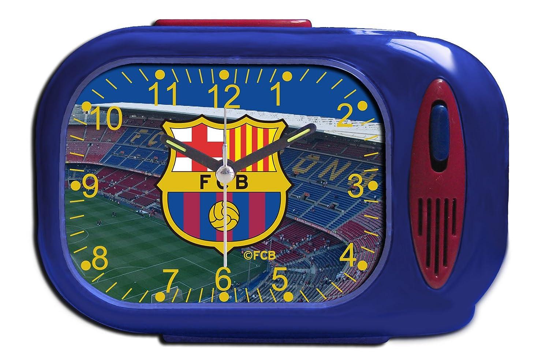 FCB FC Barcelona Barcelona Despertador Color negro única Seva 3002060: Amazon.es: Deportes y aire libre